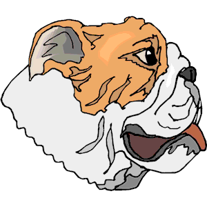 Bulldog   Face Clipart Cliparts Of Bulldog   Face Free Download  Wmf