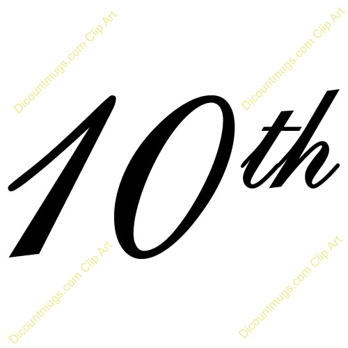 Clipart 10052 10th Anniversary Number Mugs Clipart