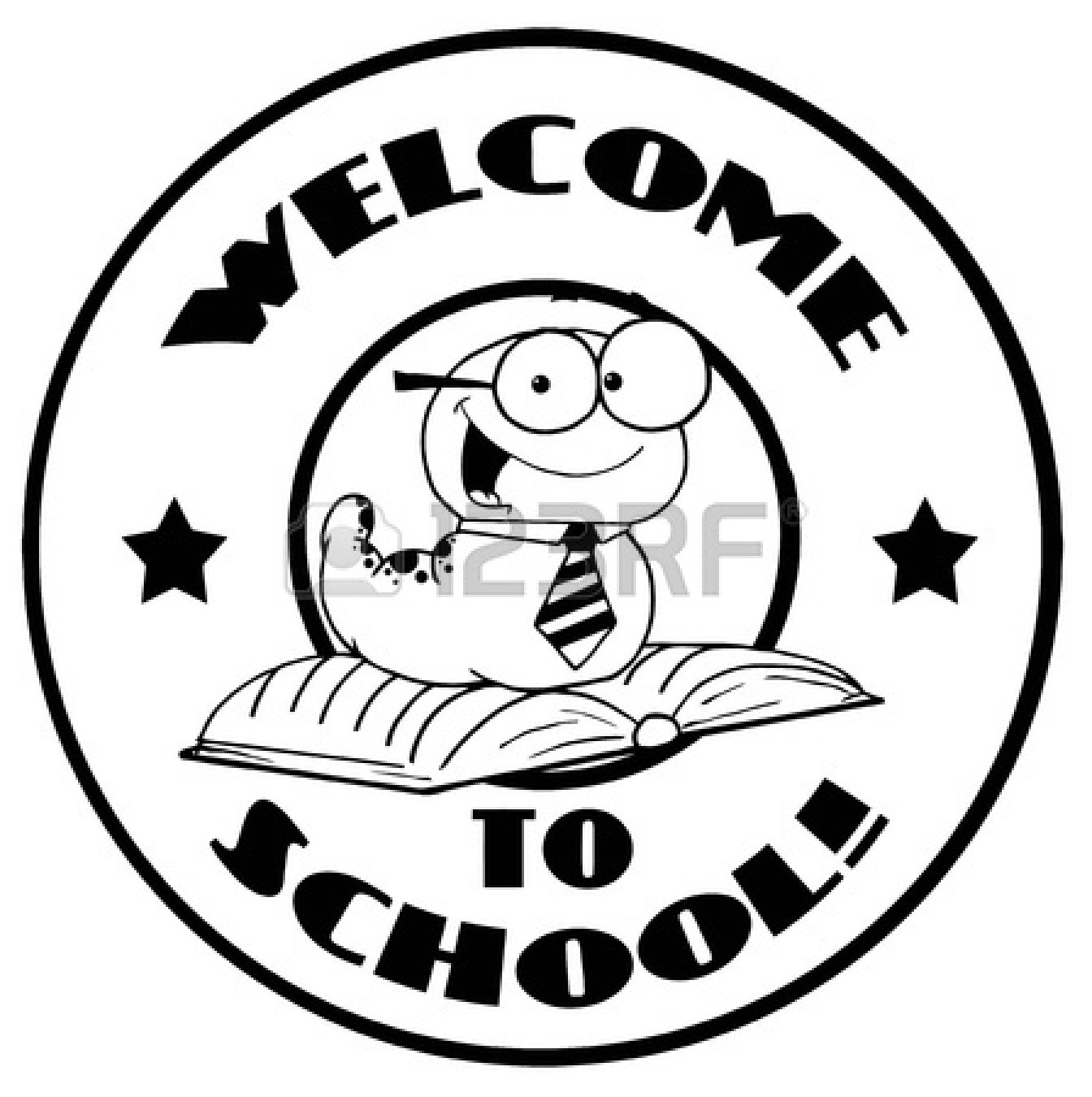 Clipart Black And White 16509080 Black And White Worm On A Welcome