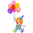 Clipart Clown With Balloon