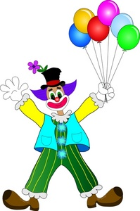 Clown With Balloons Clipart - Clipart Kid