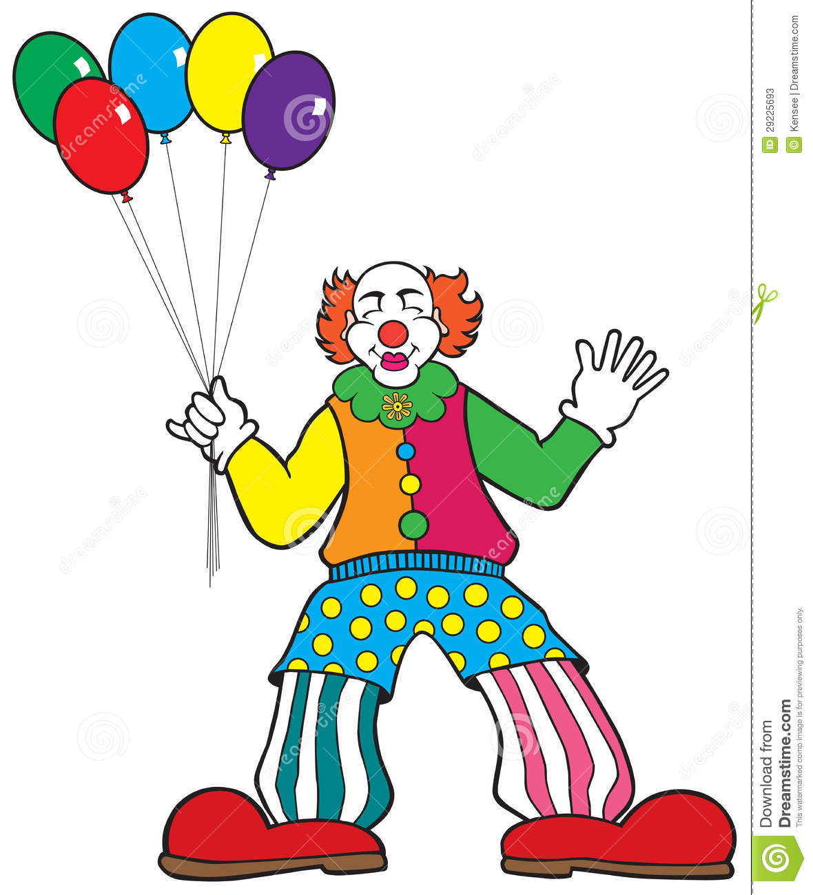 Clown With Balloon Clipart Clown With Balloons