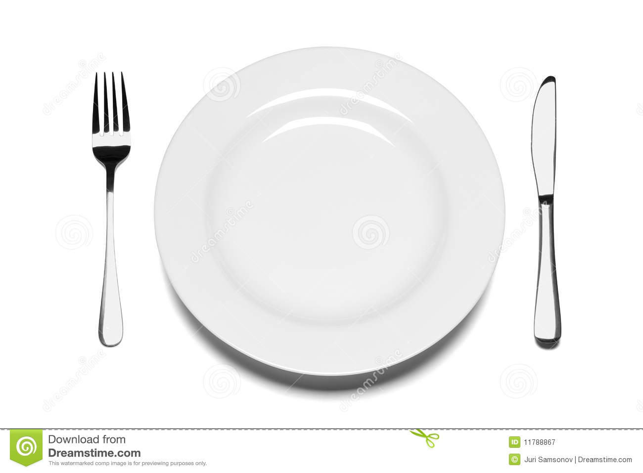 Dinner Knife Clip Art For   Empty Plate Clipart