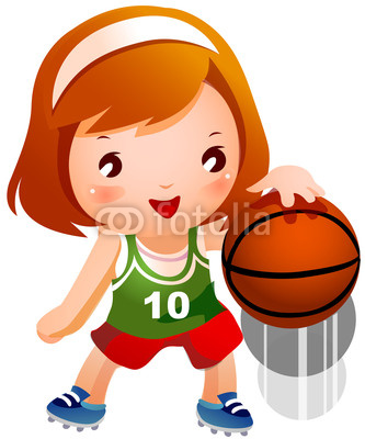 Girl Bouncing Basketball Stock Image And Royalty Free Vector Files