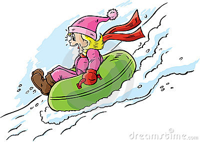 Girl Tubing Royalty Free Stock Images   Image  18031229