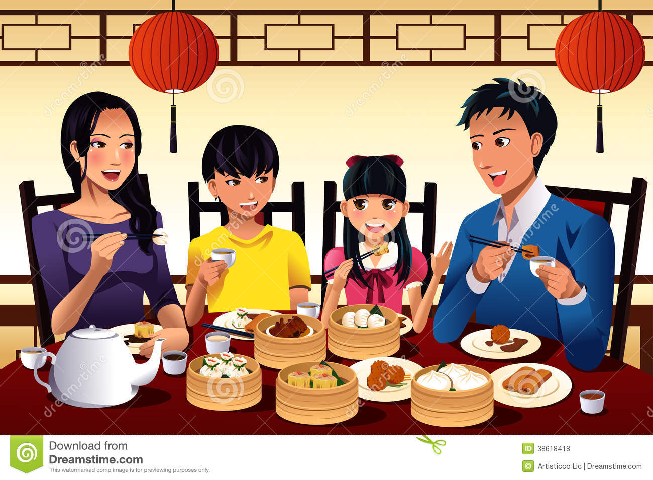 Family Eating At Restaurant Clipart - Clipart Suggest