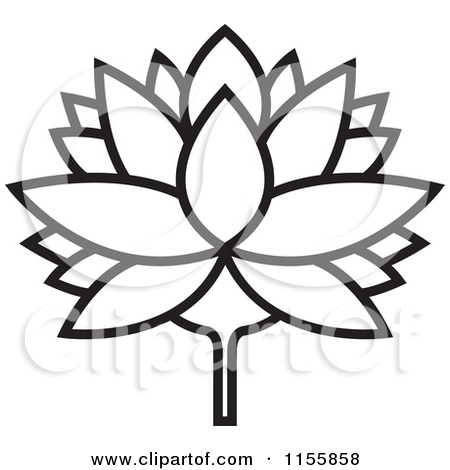 Lily Pad Clipart Black And White 1155858 Clipart Of A Black And White