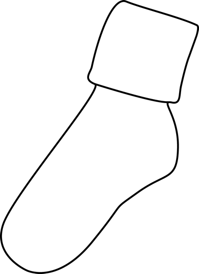 Mitten Clipart Black And White Black White Sock Png