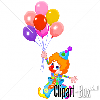 Related Clown With Balloon Cliparts