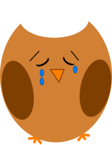 Sad Owl Brown Clip Art At Clker Com   Vector Clip Art Online Royalty