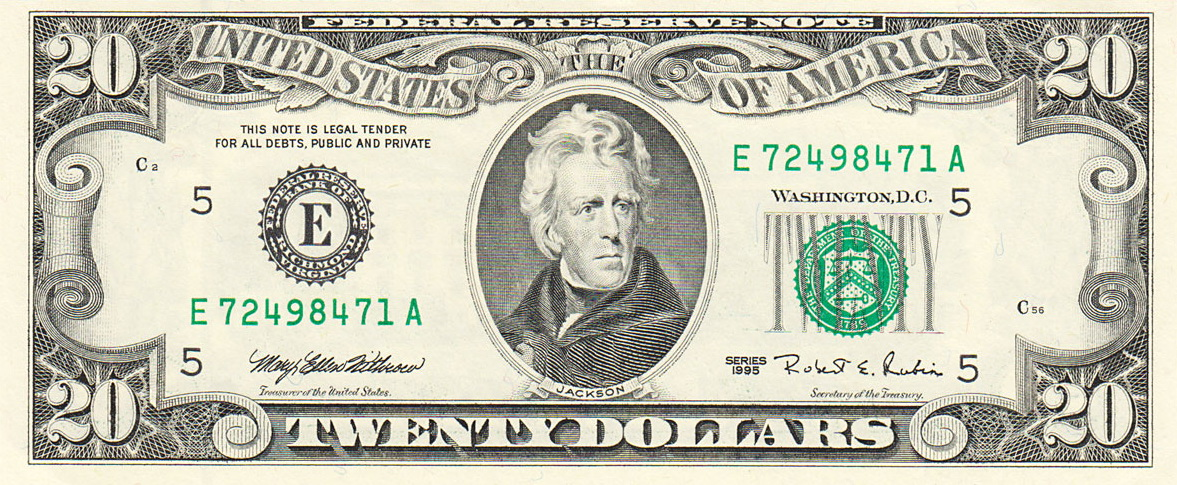 Clip Art $20 Bill Clipart - Clipart Kid