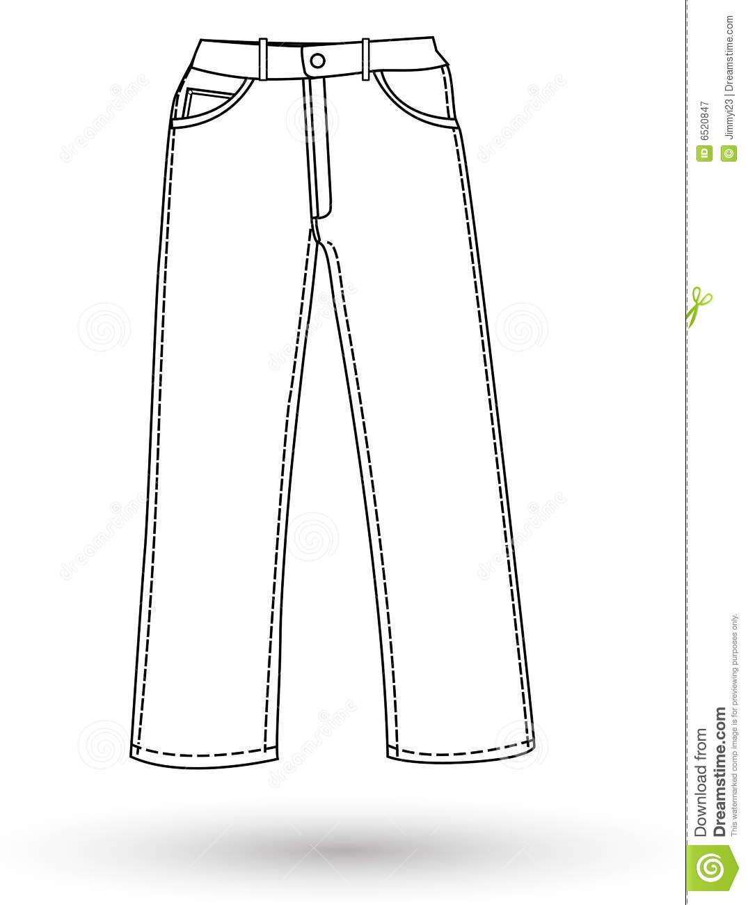The Pants Layout Royalty Free Stock Photography   Image  6520847
