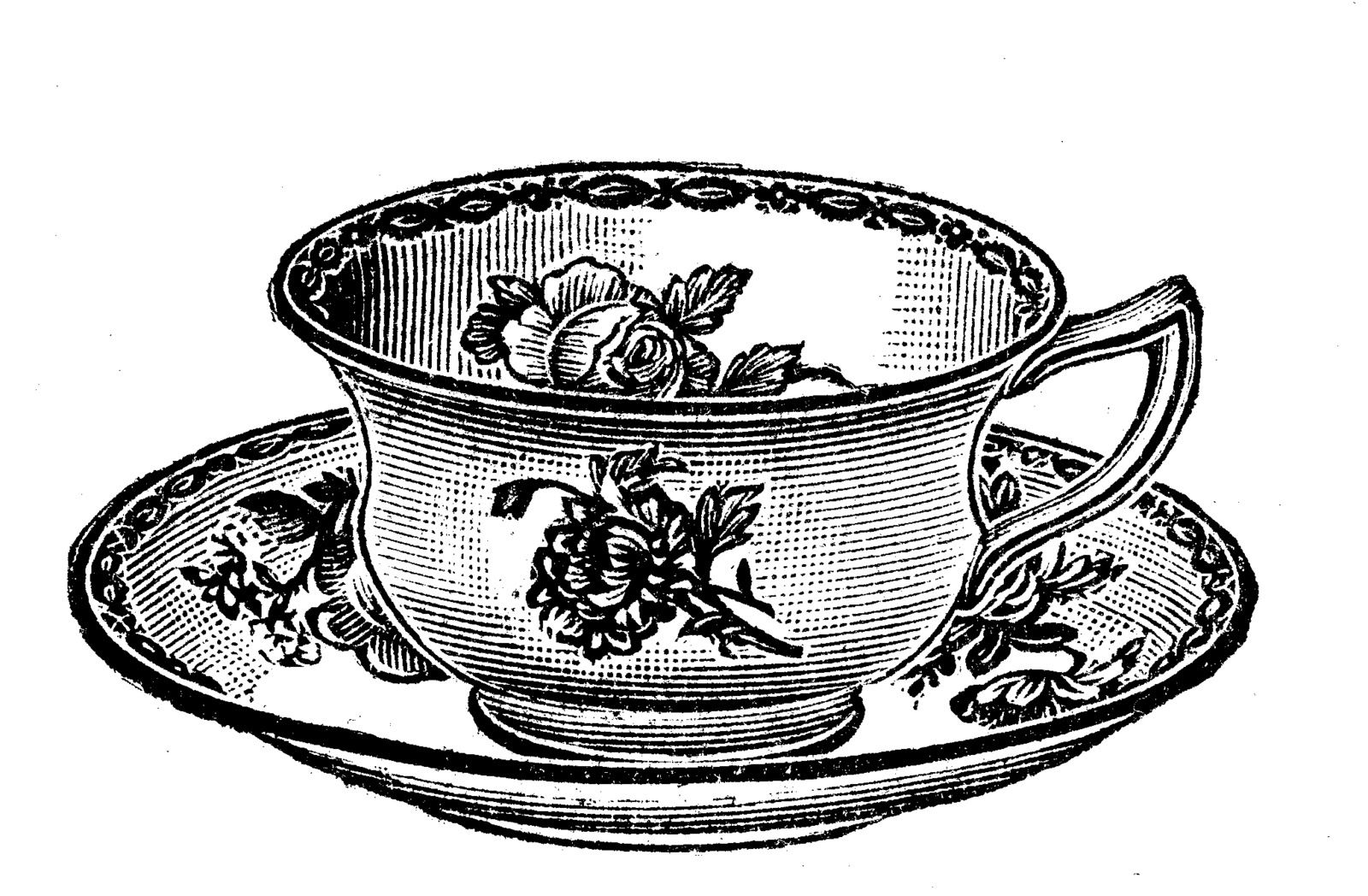 Clip Art Tea Cup Clipart vintage tea cups clipart kid teapot cup and saucer
