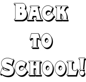 Welcome Back To School Clip Art Black And White   Free Cliparts That