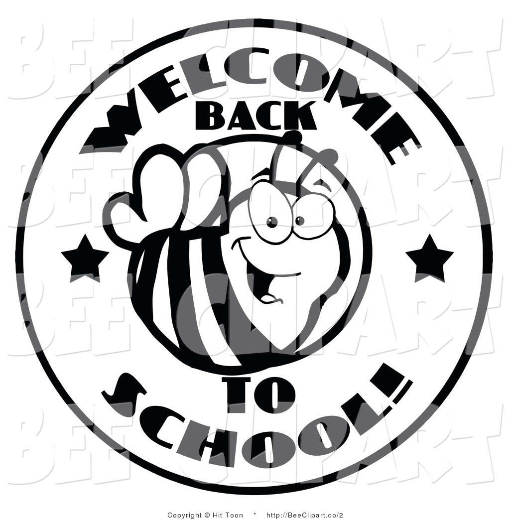 Welcome Back To School Clipart Black And White   Clipart Panda   Free