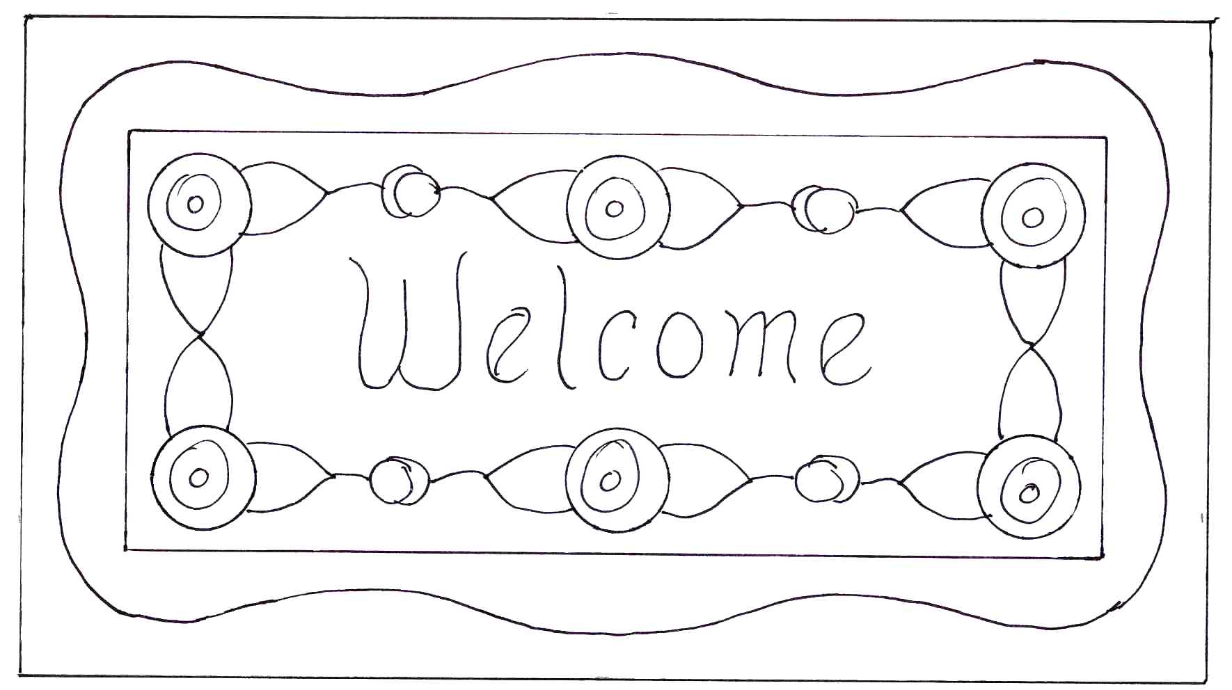 welcome sign coloring pages - photo#33