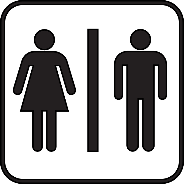 Men Women Bathroom Sign Clipart Clipart Suggest