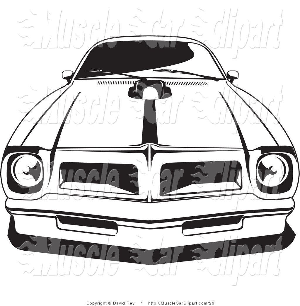 Automotive Clipart Of A 1976 Or 1977 Trans Am Made By Pontiac By David