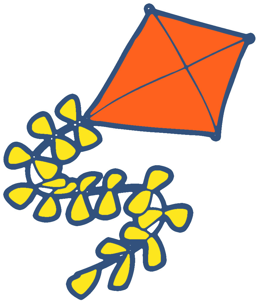clipart kite flying - photo #19