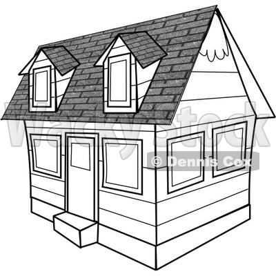Black And White House Clipart   Djart  4276
