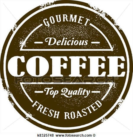 Clip Art Of Vintage Style Coffee Shop Stamp K8325748   Search Clipart