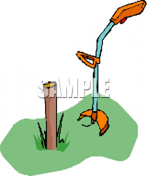 Clipart Picture Of A Weed Eater Cutting Grass