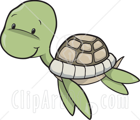 Cute Baby Sea Turtle Swimming Clipart Illustration   Flickr   Photo