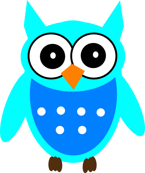 Cute Blue Owl Clip Art At Clker Com   Vector Clip Art Online Royalty