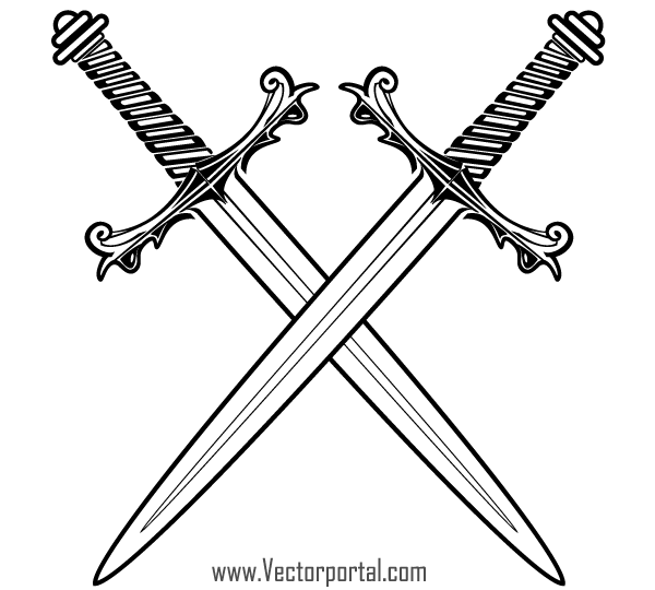 Clip Art Clip Art Sword crossed sword clipart kid free swords vector 123freevectors