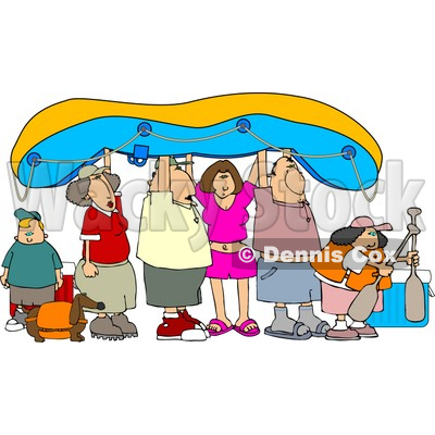 Friends And Family Going River Rafting Clipart   Djart  4454