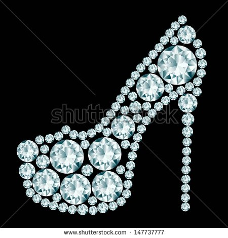 High Heels Shoe Made Of Premium Very High Resolution Image Royalty