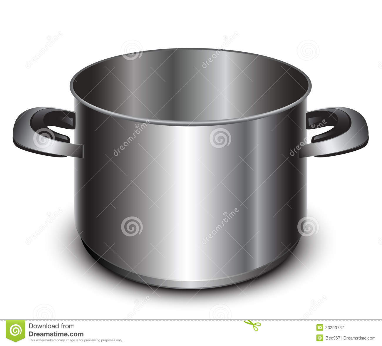 Large Steel Cooking Pot Royalty Free Stock Photography   Image