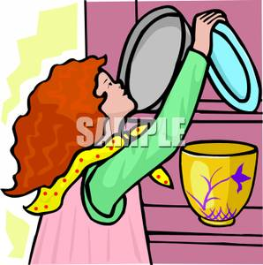 Put Dishes Away Clip Art Vector Online Royalty Free Pictures