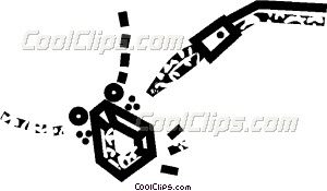 Repairs Being Made To A Vector Clip Art