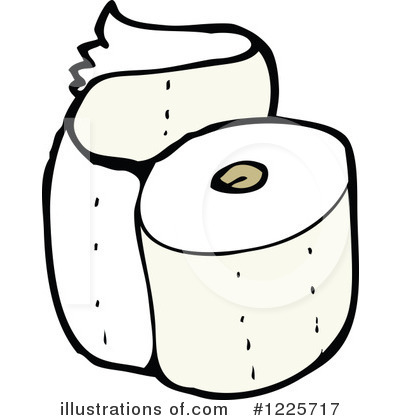 Royalty Free  Rf  Toilet Paper Clipart Illustration By Lineartestpilot