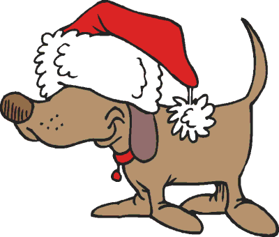 Cartoon Of Dog And Cat At Christmas Clipart - Clipart Kid