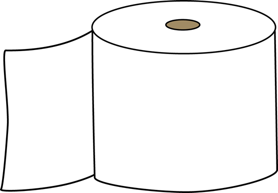 Clip Art Toilet Paper Clipart toilet paper clipart kid clip art image white on a brown cardboard