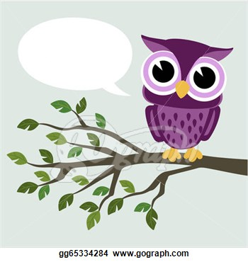 Vector Illustration   Cute Baby Owl  Eps Clipart Gg65334284   Gograph