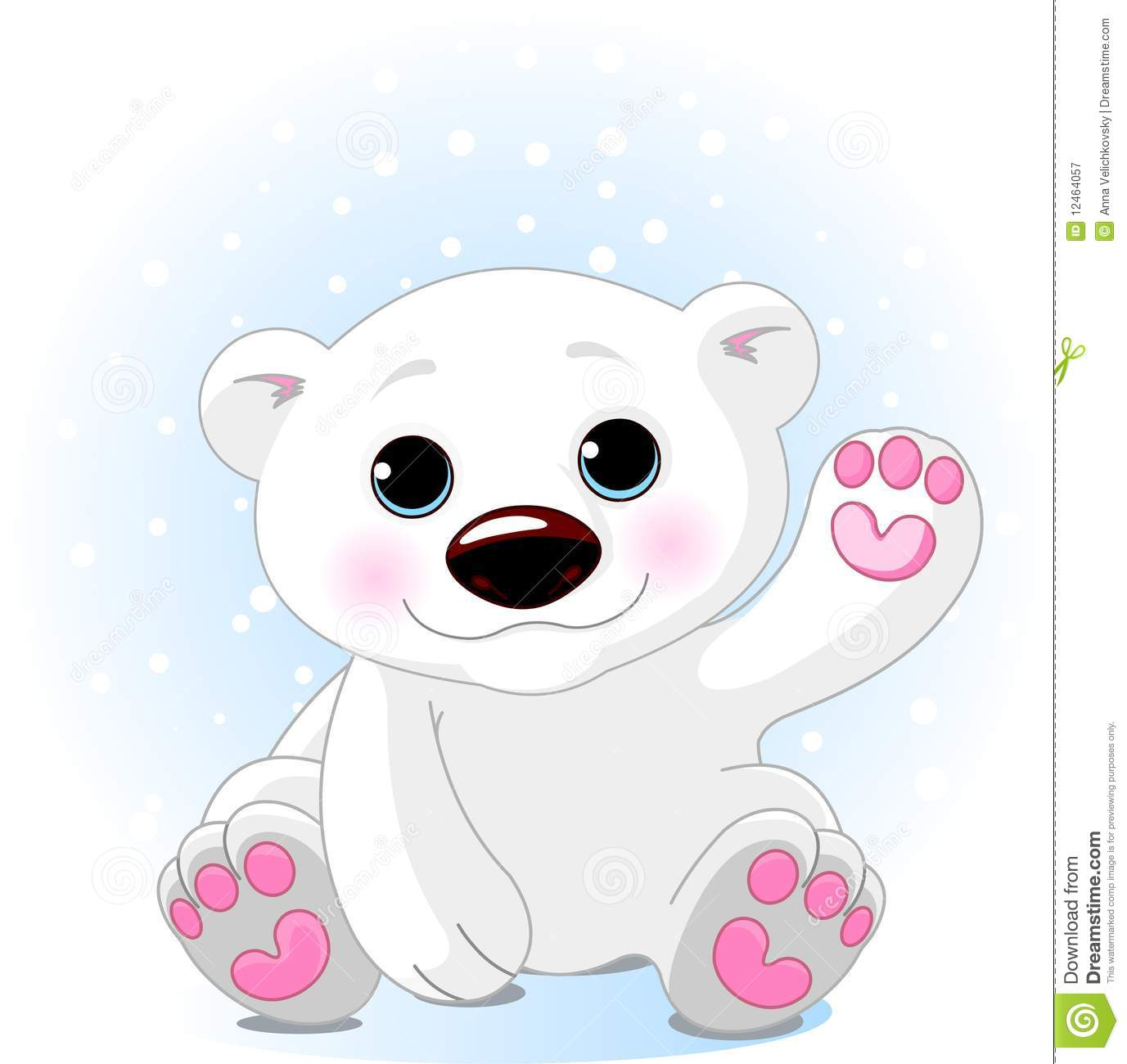 Vector Illustration Of A Cute Polar Bear  Bear And Background Are On