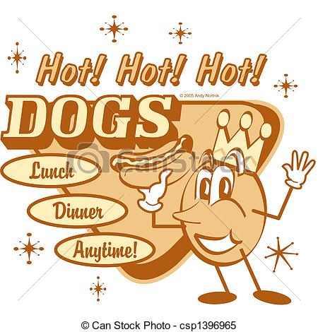 Vintage Store Signs Clipart Retro   Vintage Hot Dog Sign