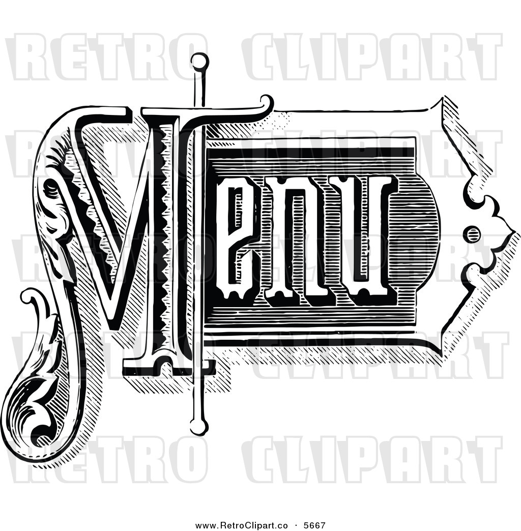 Vintage Store Signs Clipart Vector Clipart Of A Vintage