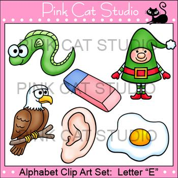 Beginning Sounds E Clip Art Value Pack By Pink Cat Studio   Pink Cat
