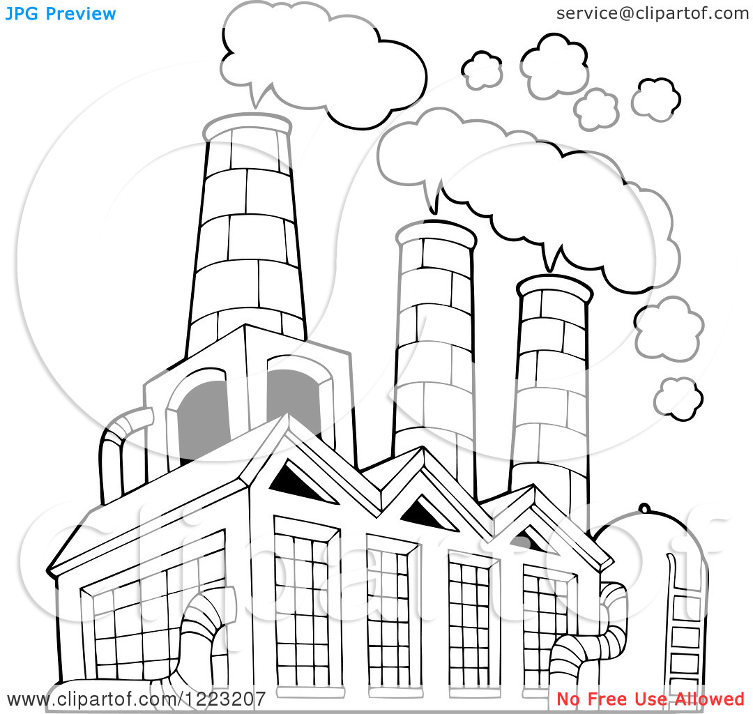 Factory Smoke Clipart - Clipart Kid