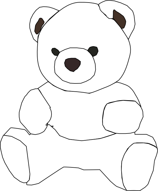 white teddy bear clip art - photo #5