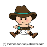 Cowboy Baby Shower Decorations   Stencils  Clipart