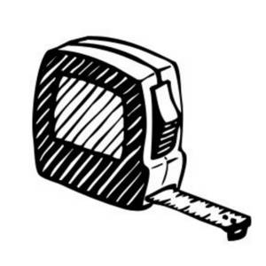 Description  Free Tool Clipart Image Of A Tape Measure  This Low Res
