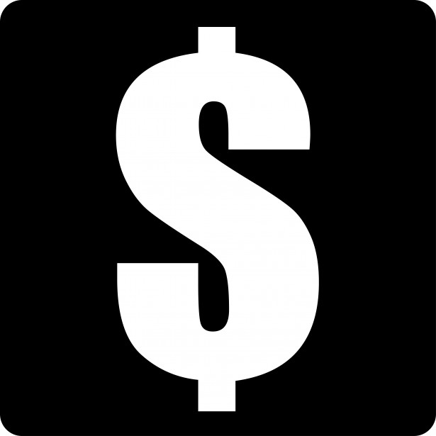 dollar sign black and white clipart clipart suggest