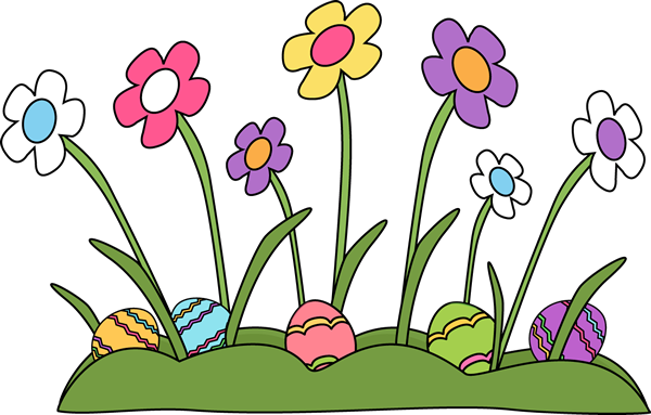 Easter Eggs Hidden In The Grass Clip Art   Easter Eggs Hidden In The