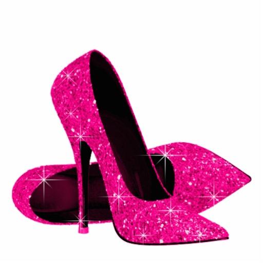Hot Pink Glitter High Heels | Tsaa Heel