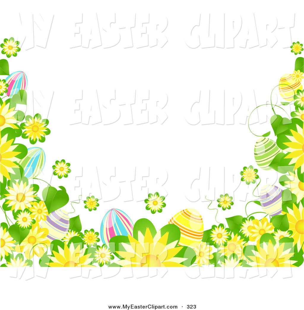 Flowers And Colorful Easter Eggs Easter Clip Art Elaine Barker